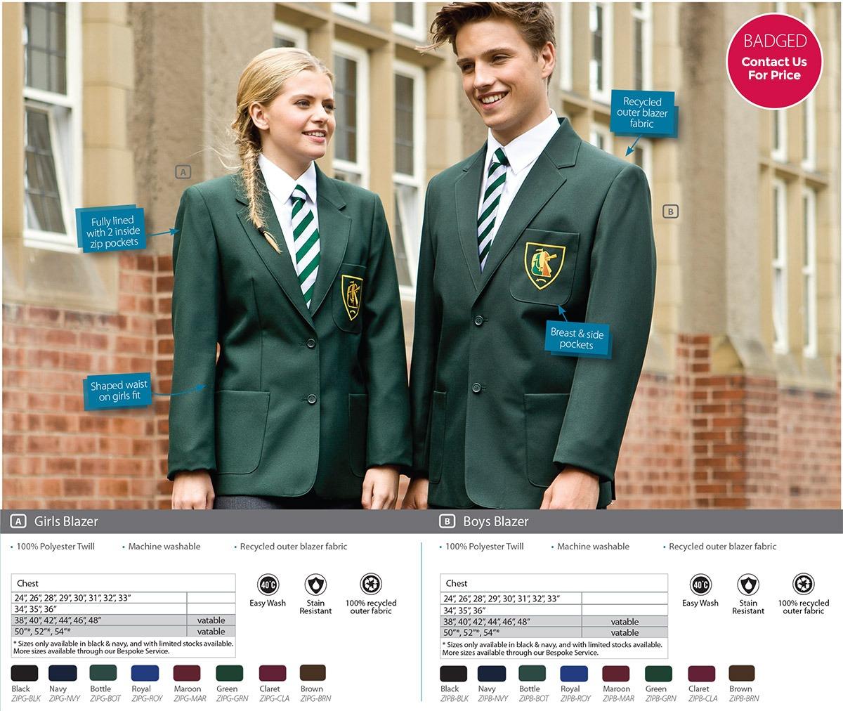 Blazers Hull: Secondary Schoolwear - Rawcliffes