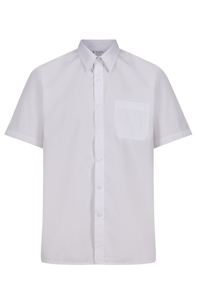 Trutex Short Sleeve White Shirt Twin Pack Rawcliffes